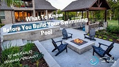 What To Know Before You Build Your Swimming Pool