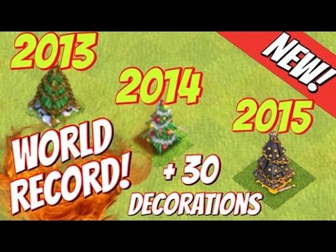 Clash of Clans | 3 Generations of X-Mas Trees! +30 Holiday Decorations! WORLD RECORD!