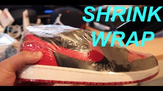 Shrink Wrap Sneakers!!! Jordan Bred 1 Low
