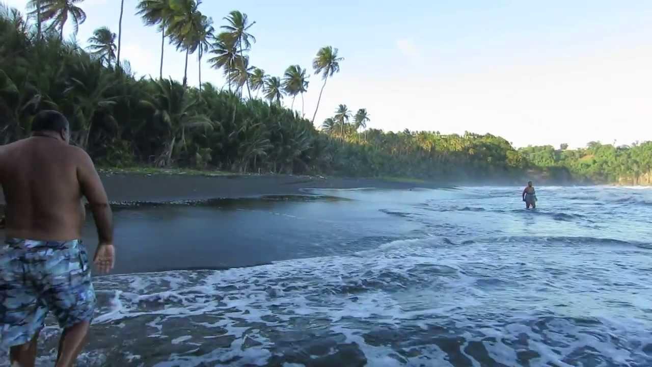 Tahiti Beach Black Sand
