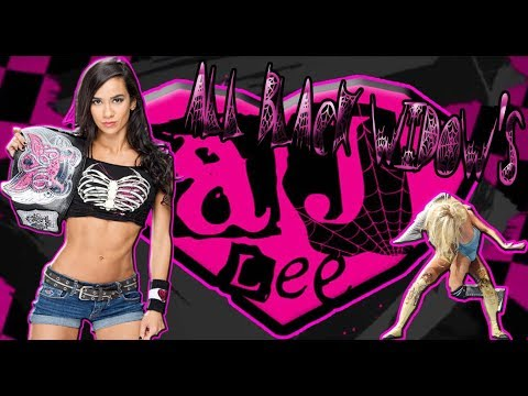 AJ Lee  - All Black Widow |Tribute Compilation| - |RoiDivasFan|