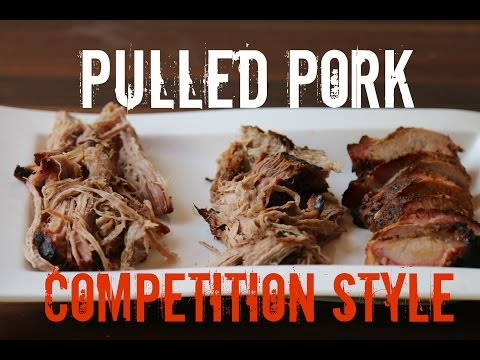 Pulled Pork Competition Style inkl. Money Muscle nach KCBS Regeln