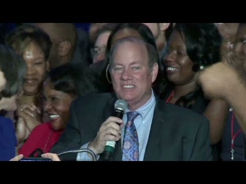 Detroit's first white mayor in 40 years