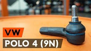 Cómo y cuándo cambiar Rótula barra de acoplamiento VW POLO (9N_): vídeo tutorial