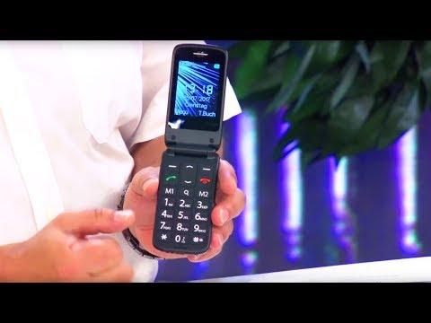 simvalley MOBILE Senioren- und Notruf-Klapp-Handy mit Garantruf Premium und Ladestation