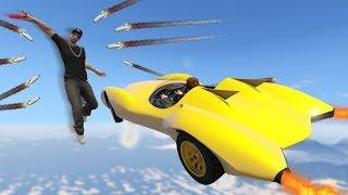 หนีให้รอด!! กับ ด่านรถใหม่กระโดดยิงโครตโกง!! (GTA 5 Online)