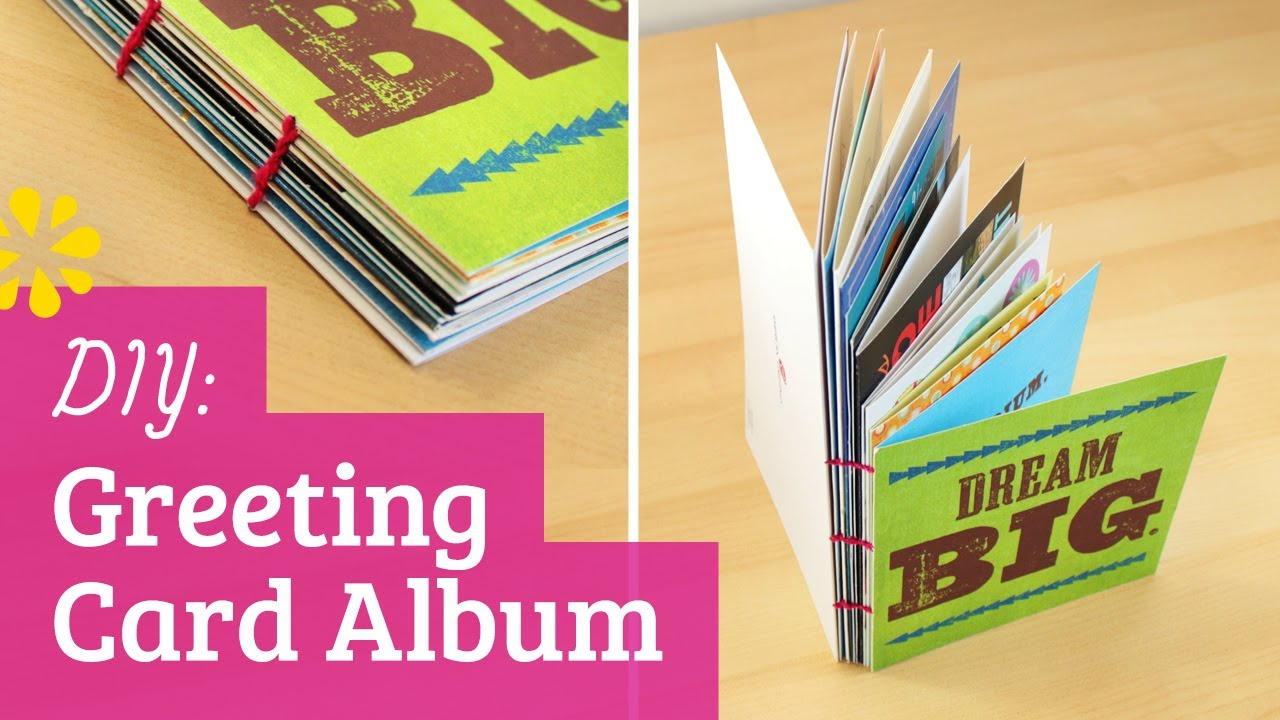 Diy greeting card album perfect for holiday birthday or grad diy greeting card album perfect for holiday birthday or grad cards sea lemon youtube m4hsunfo