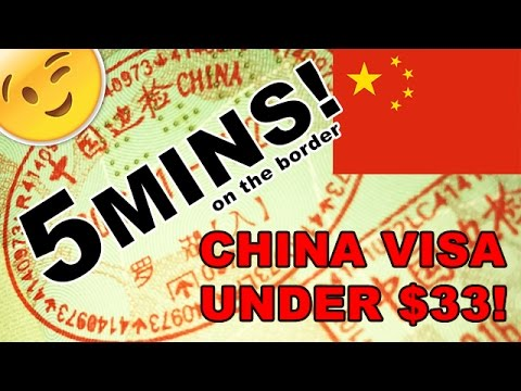 How to get a China Visa on arrival for $33
