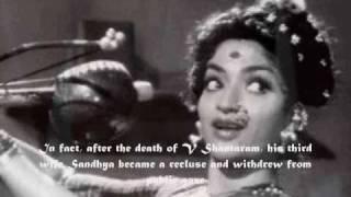 do aankhen barah haath-saiyan jhooton ka bada sartaz nikla..a tribute to shandhya v.shantaram