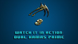 Warframe Watch it in Action: Dual Kamas Prime Red Crit build