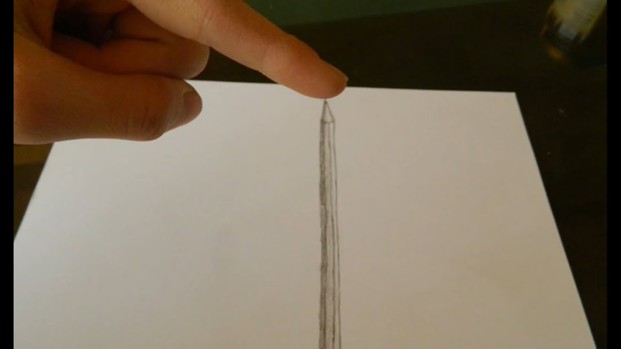 Easy 3d draw 1 pencil youtube