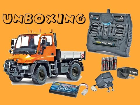 RC\Τηλεκατευθυνόμενο Carson Unimog Tipper Truck 6CH Sound/Lights 1:12 RTR Unboxing/Starting Up!