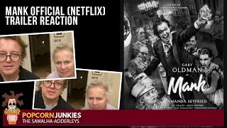 MANK (Official NETFLIX Trailer) The POPCORN JUNKIES Reaction