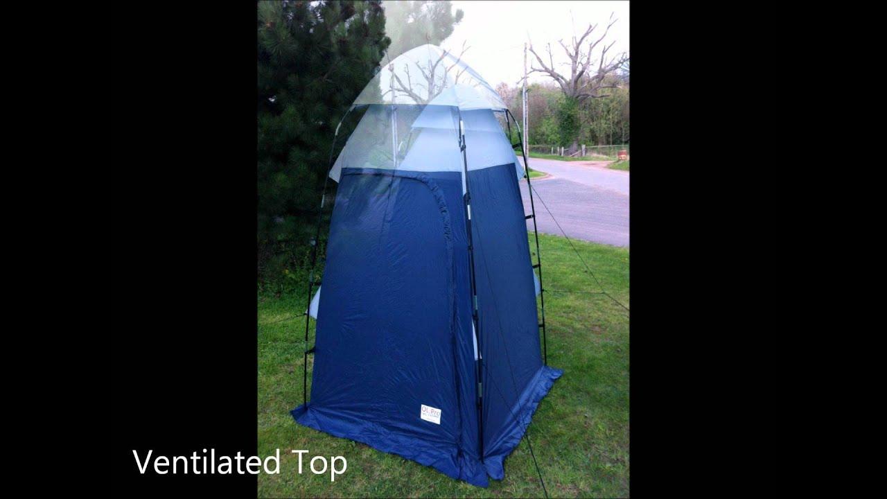 OLPro WC Deluxe   Toilet U0026 Utility Tent.wmv