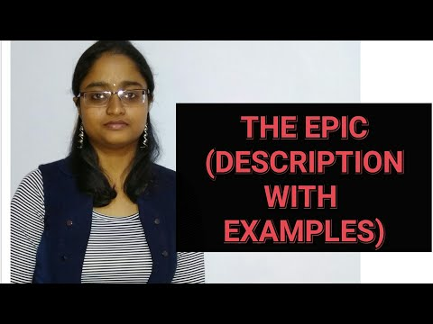 THE EPIC | LECTURE in HINDI | DEFINITION | EXAMPLES |