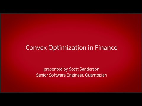 Convex Optimization for Finance