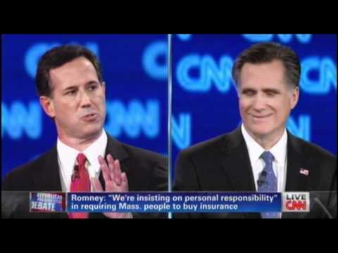 Santorum Aggressively Goes After Romney On His Health Care Plan As MA Governor - RomneyCare