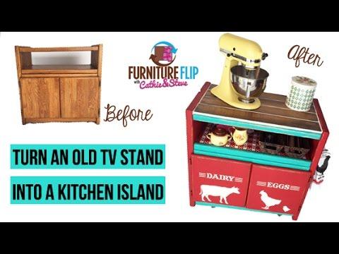 DIY Kitchen Island Furniture Flip!
