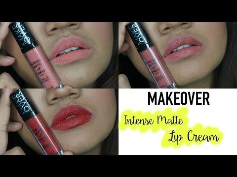 review-&-swatch-|-makeover-intense-matte-lip-cream-terbaru-|-cleoputri