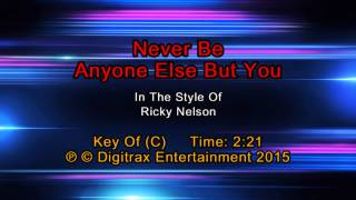 Ricky Nelson - Never Be Anyone Else But You (Backing Track)