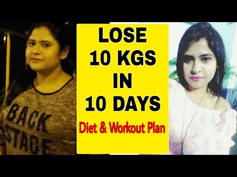 Diet Plan To Lose Weight Fast | LOSE 10 KG IN 10 DAYS