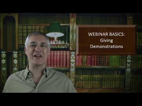 Webinar Basics - Giving Demonstrations