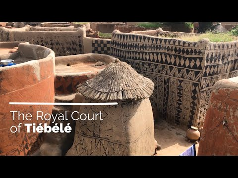The Royal Courts of Tiébélé (Filmed on phone)