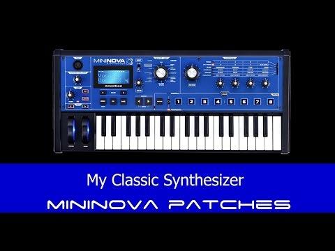 MiniNova My Classic Synth Patches - Yazoo - Human League - Gary Numan - Depeche Mode Howard jones