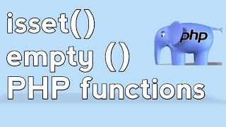 PHP For Beginners - Working with isset() and !empty() Function in PHP. Hindi/ Urdu