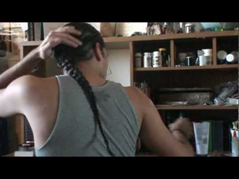High Braid For Men With Long Hair Youtube