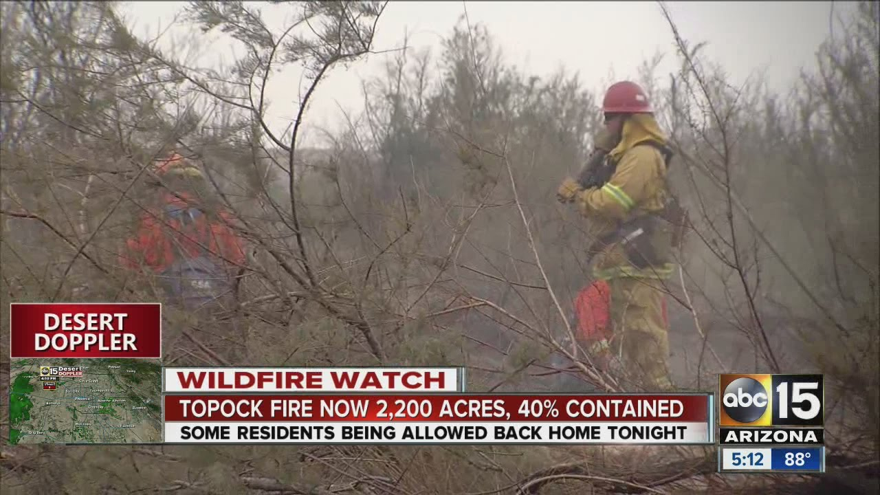 Arizona mohave county topock - Topock Fire Now 2 200 Acres 40 Contained Abc15 Arizona