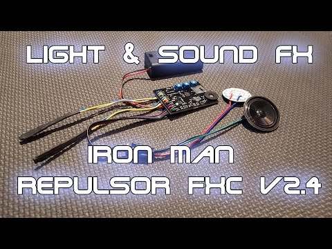 Iron Man Repulsor FX Circuit v2.4 for your Glove, Gauntlet, or Full Armor