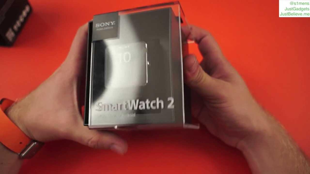 Sony Smartwatch 2: распаковка, первый взгляд - YouTube