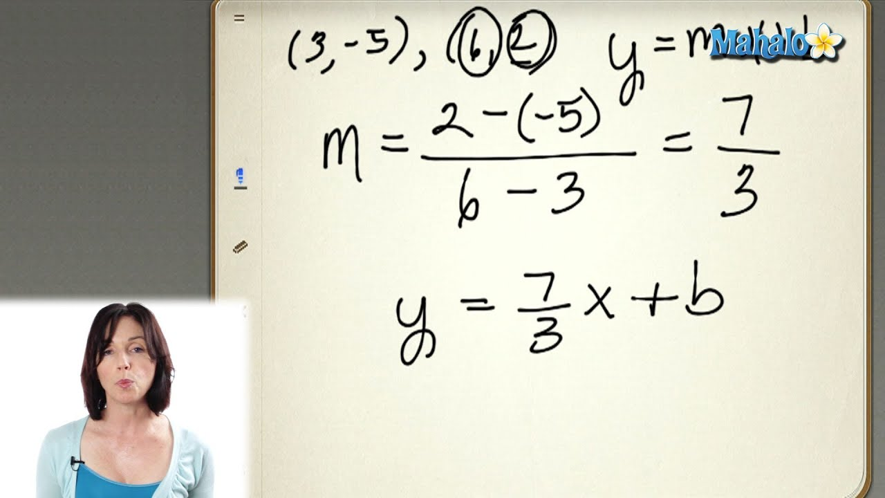 Finding The Equation Of A Line In Slope Intercept Form
