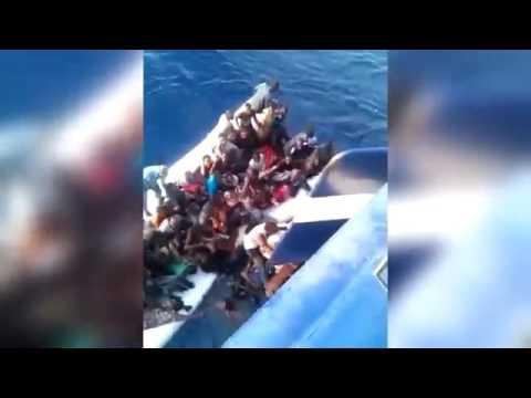 African migrants drown rashing it into the side of a Tunisian fishing trawler