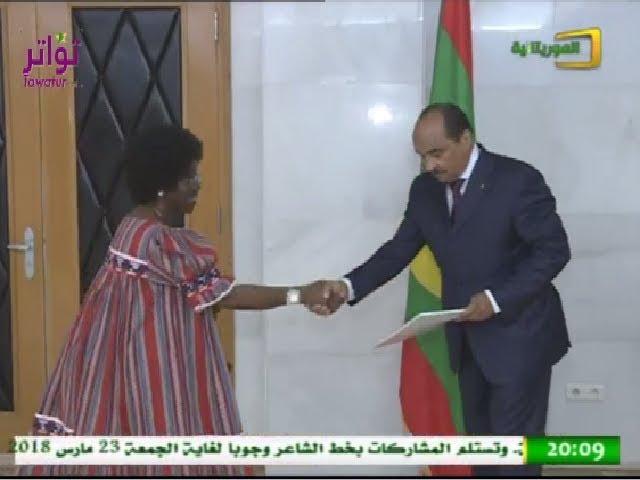 الرئيس الموريتاني يستلم أو راق اعتماد  7 سفراء لتمثيل بلدانهم في موريتانيا - قناة الموريتانية
