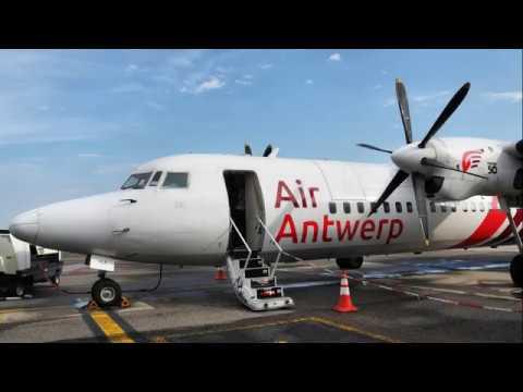 Air Antwerp Fokker 50 - Antwerp Airport To London City Airport