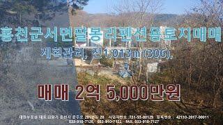 홍천군 서면 팔봉리 홍천강변 펜션용 토지 매매