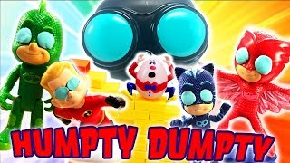 Incredibles 2 and PJ Masks Humpty Dumpty Wall Game! Featuring Dash, Owlette, Catboy and Violet!