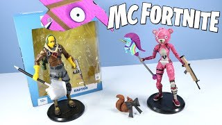 Fortnite Toys McFarlane Action Figures Cuddle Team Leader and Raptor Review