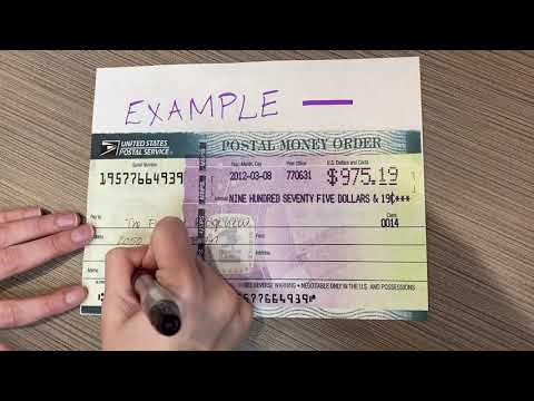 How To Write A Money Order