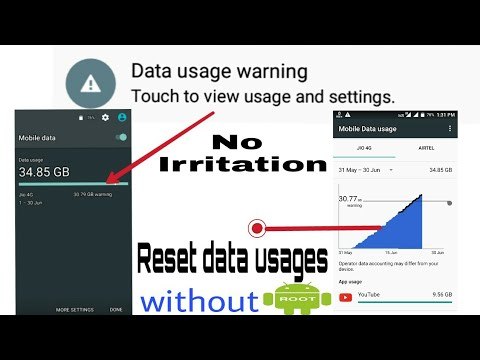 How to reset mobile data usage |without root||•in hindi||