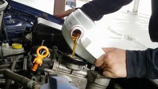 VW Polo 4 Ölwechsel 1.2 AZQ Motor (Oil change)