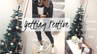 VLOGMAS! PUTTING UP THE CHRISTMAS TREE AND GETTING BACK INTO THE GYM   Style With Substance