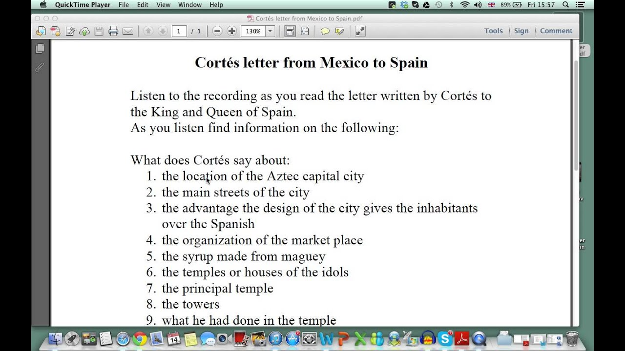 cortes 2nd letter back to spain essay