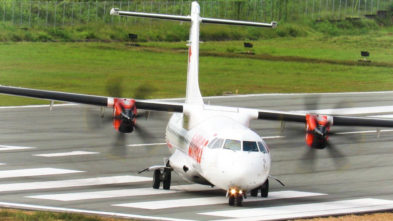 Spot Mantap! Melihat Proses Pesawat Wings Air Take Off (Pesawat Terbang Indonesia)