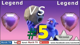 Monik TV Clash of Clans - Legend vs Legend #5, 3 Stars, TH11 Max, Bowlers, Legend League