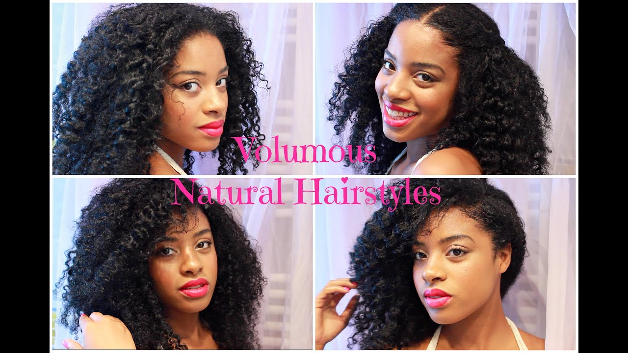 Voluminous Summer Natural Hairstyles Via Afro Kinky Curly Clip Ins