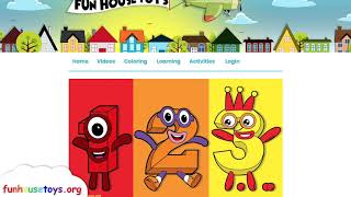 New Numberblocks 25 | Fun House Toys Number Blocks Fun Coloring for Kids - Learn to Count