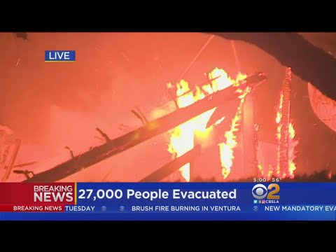 Thomas Fire Explodes Overnight